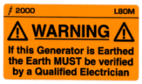 L080 M - Generator Earthing to be Verified