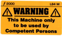L084 M - Use only by Competent Persons (Medium)
