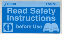 L068 M - Read Safety Instructions before use (Medium)