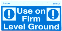 L059 LX - Use on Firm Level Ground