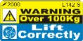 L142 S - Lift Correctly_Over 100Kg (small)