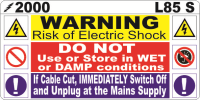 L085 S - Risk of Electrical Shock (Small) 100