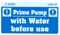 L086 M - Prime Pump with Water before use