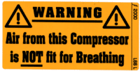 L066 L - Compressor Air Not for Breathing
