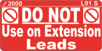 L091 S - Do Not use on Extension Leads